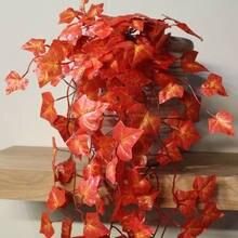 1pc artificial hera arrastando videira falso folha guirlanda casamento planta falso folhagem decoração