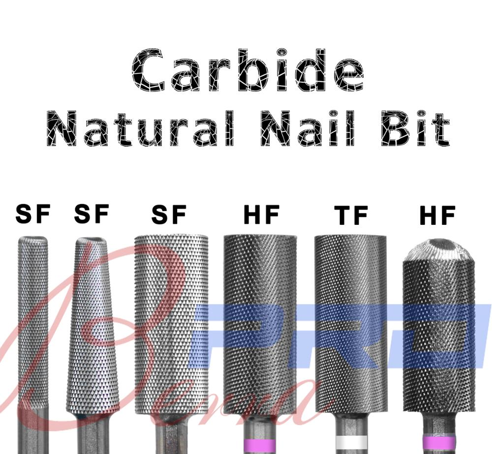 Proberra Fine Tooth Carbide Natural Nail Drill For Manicure Machine Accessories Art Tools Electric Cutter Files Nail Drill Bit