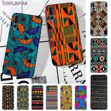 TOPLBPCS African style fabric print Shell Phone Case for huawei P8 P9 p10 p20 P30 P30
