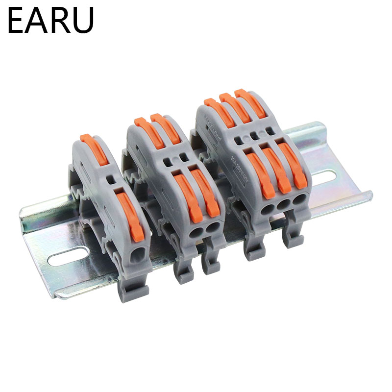 Mini Fast Wire Cable Connectors Universal Compact Conductor Spring Splicing Wiring Connector Push-in Terminal Block SPL-2/3 LED 5