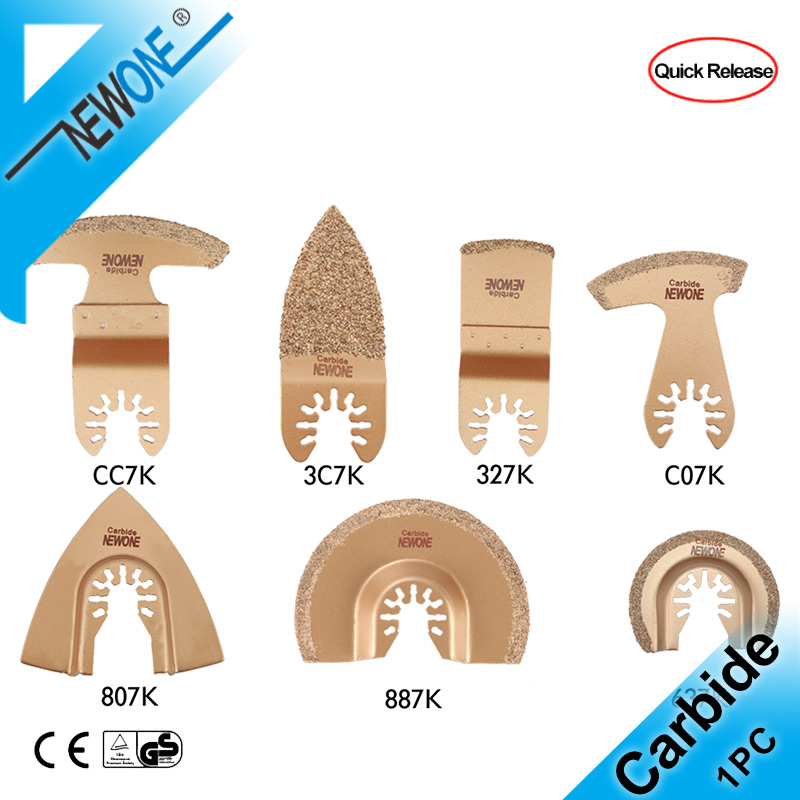 NEWONE Carbide Triangle Rasp Oscillating Saw Blades Carbide E-cut For Rough Sanding Fillers, Tile Ceramics Multitool Saw Blade
