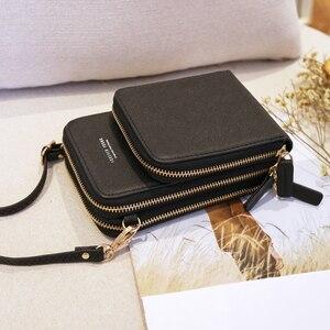 Image 4 - ใหม่โทรศัพท์มือถือขนาดเล็กผู้หญิง Crossbody กระเป๋าสตางค์มินิน้ำหนักเบาหนัง Messenger กระเป๋าโทรศัพท์มือถือกระเป๋าสายคล้องบัตร