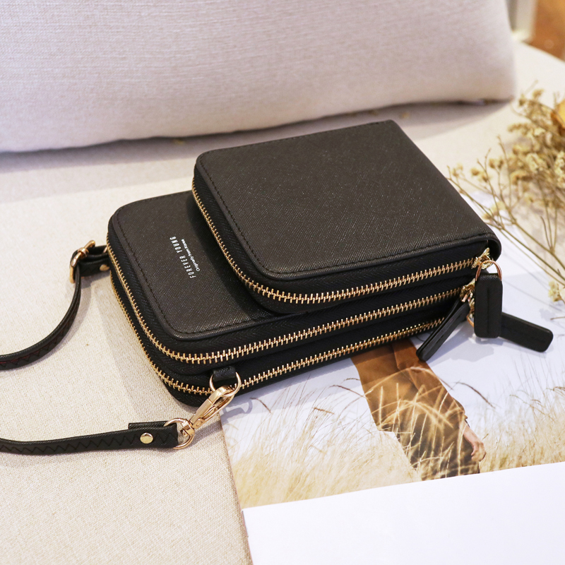Image 4 - New Small Cellphone Women Crossbody Purse Wallet Mini Lightweight Leather Messenger Bags Cell Phone Bag with Strap Card SlotsTop-Handle Bags   -