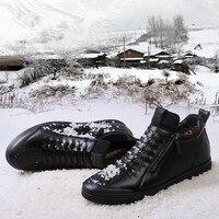 Mejor Zapatos casuales de diseñador de moda para hombre zapatos de cuero genuino para hombre zapatillas de deporte zapatillas negras de invierno otoño para hombre marca
