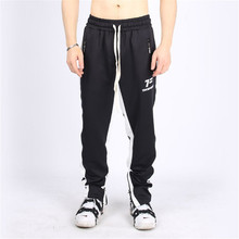 Fashion mens black trousers 2019 clothing jogger street casual fitness bodybuilding brand