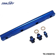 For VW Audi 20V 1.8T Top feed Injector Fuel Rail Turbo Kit Blue  Aluminium Billet HQ jdm TK-VW20YG
