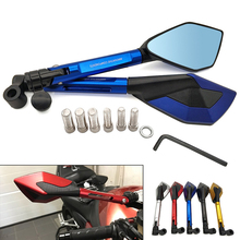 Universal Motorcycle Rearview Mirror CNC Aluminum View Side Mirrors For Honda GROM MSX125 forza 300 CB R650R 650 125 R X 11