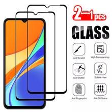 2-1 peças de vidro protetor para xiaomi redmi 9c xiomi xaomi redmi 9a 9 8a 8 7a 7 tela de cobertura completa trempe verre