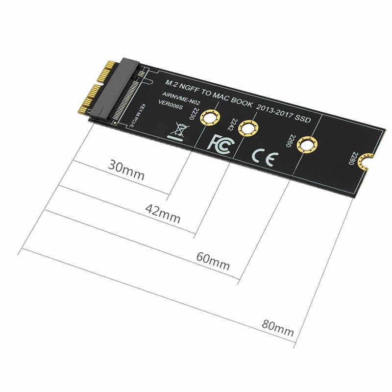 M.2 NVME SSD convertir Tarjeta de adaptador para MacBook Air Pro Retina 2013-2017 NVME/AHCI SSD Kit para A1465 A1466 A1398 A1502