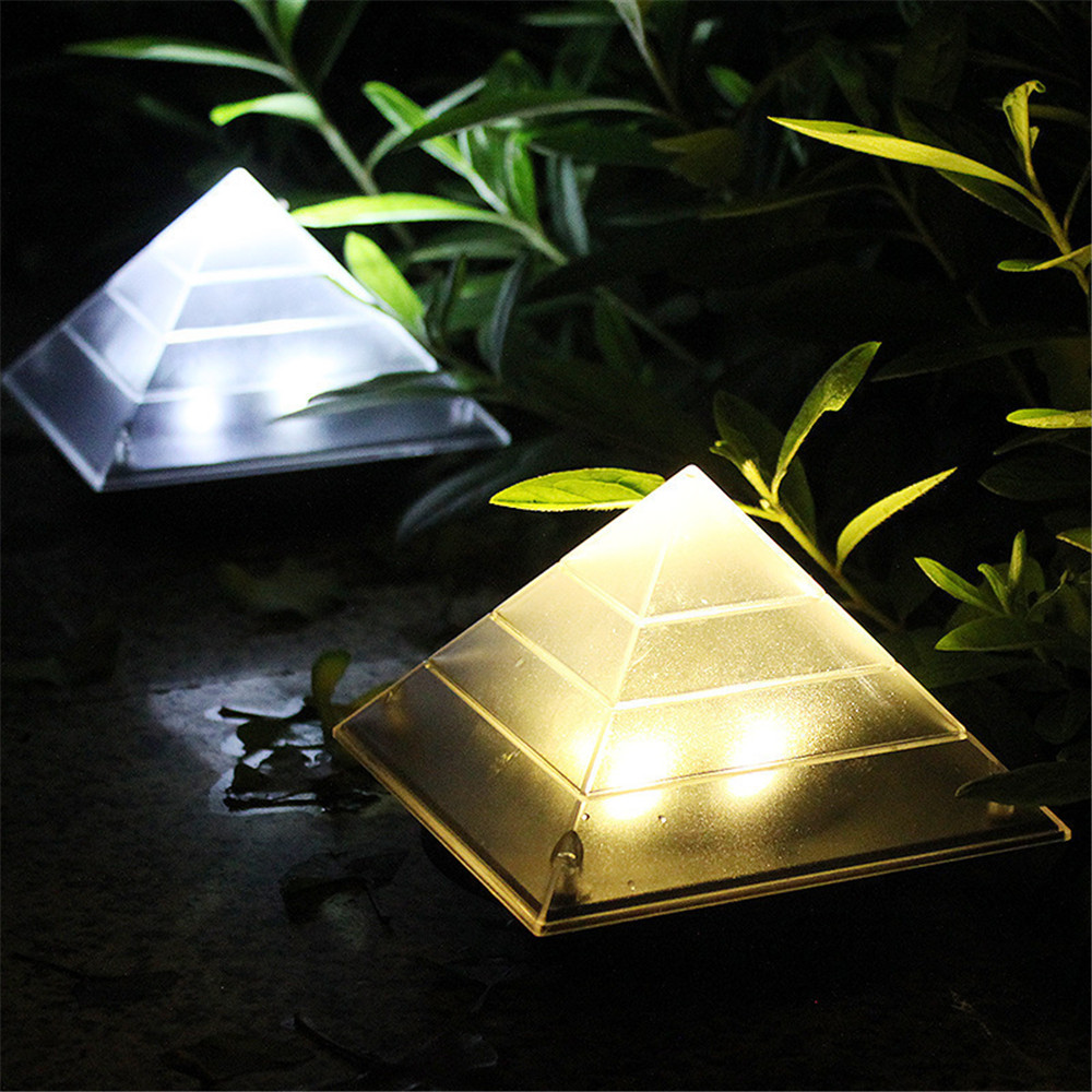 New Automatic Solar Buried Lamp Hot Selling Pyramid Buried Ligh Outdoor Garden Patio Lamp Household Waterproof Outdoor LED Light