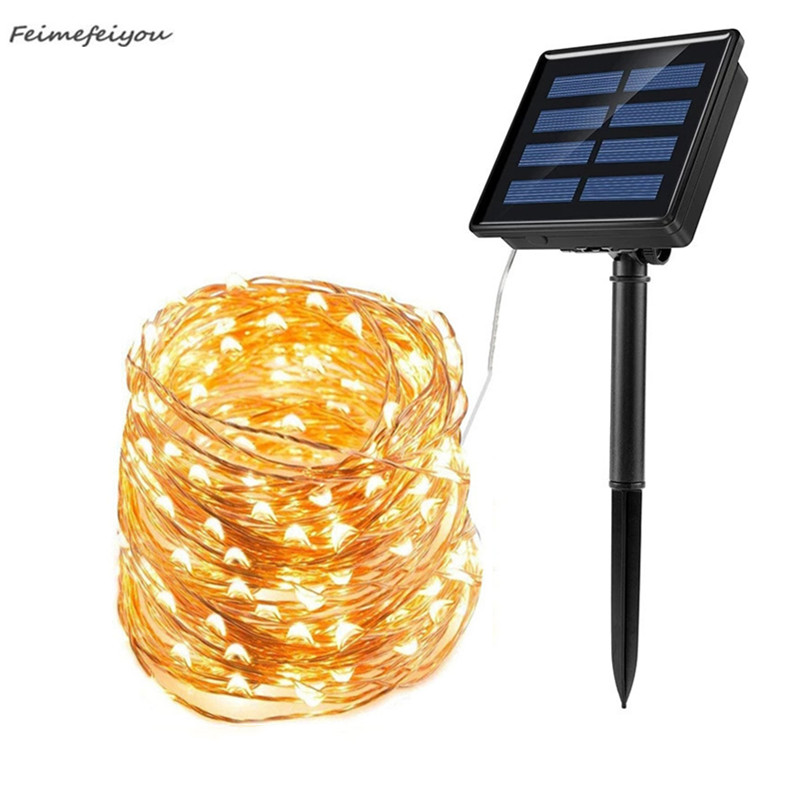 20 30 40M LED Solar Light String Outdoor Waterproof Garden Fairy Lights String Christmas Wedding Party Solar Light Decoration