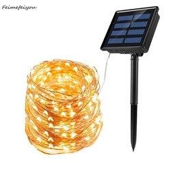 20/30/40 м светодиодный светильник на солнечной батарее, водонепроницаемый уличный садовый светильник, гирлянда, рождественская Свадьба, укра...