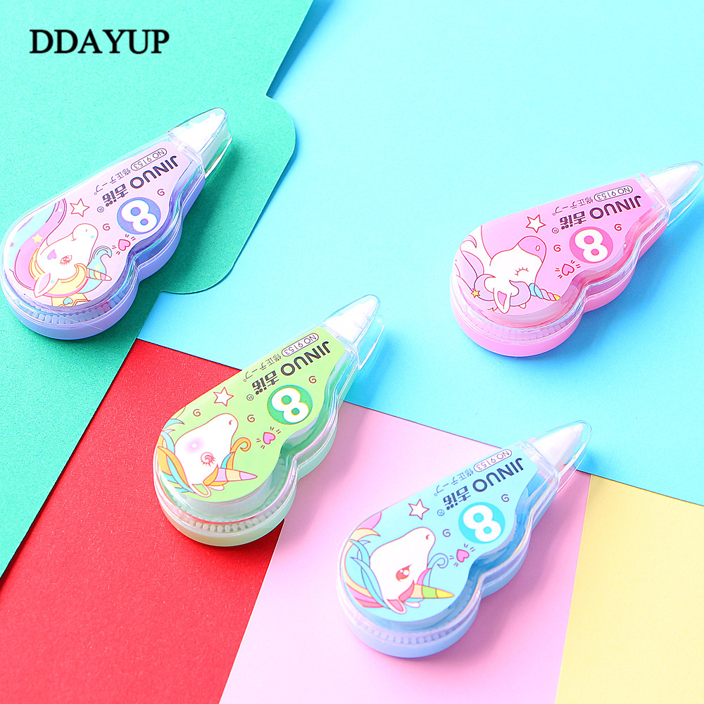 4 Pcs/pack Unicorn Practical Correction Tape Promotional Gift Stationery Student Prize School Office Supply