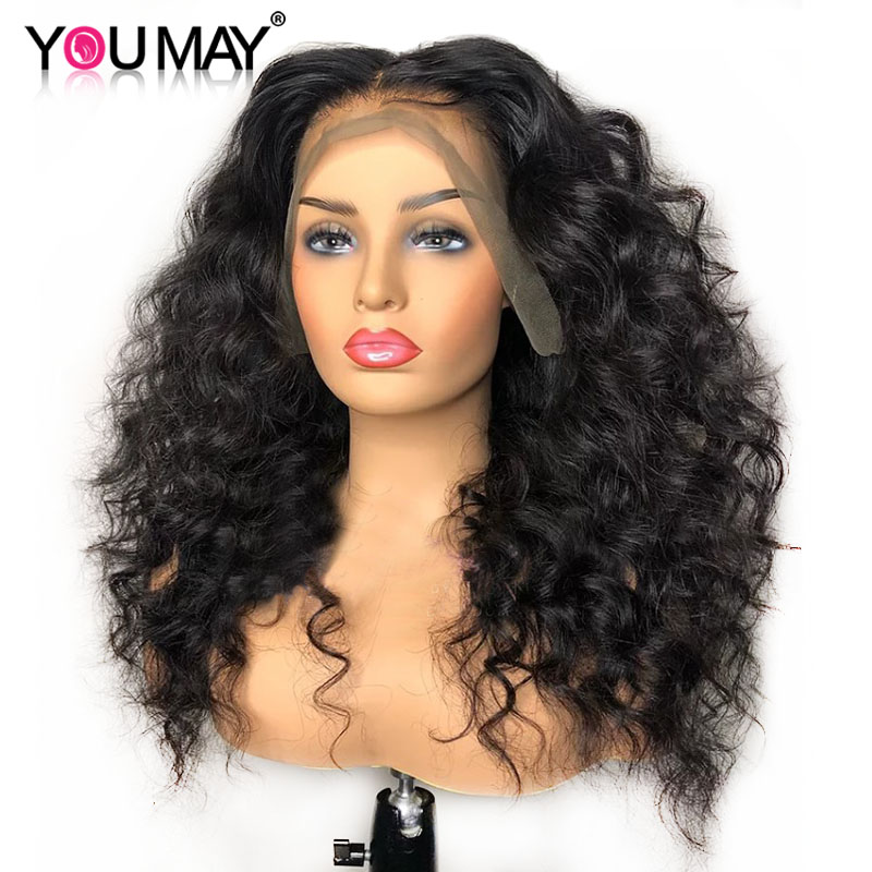 Loose Wave Wig 13x6 Lace Front Wigs For Women Brazilian 250 Density Lace Front Human Hair Wigs Pre Plucked  You May Remy Hair