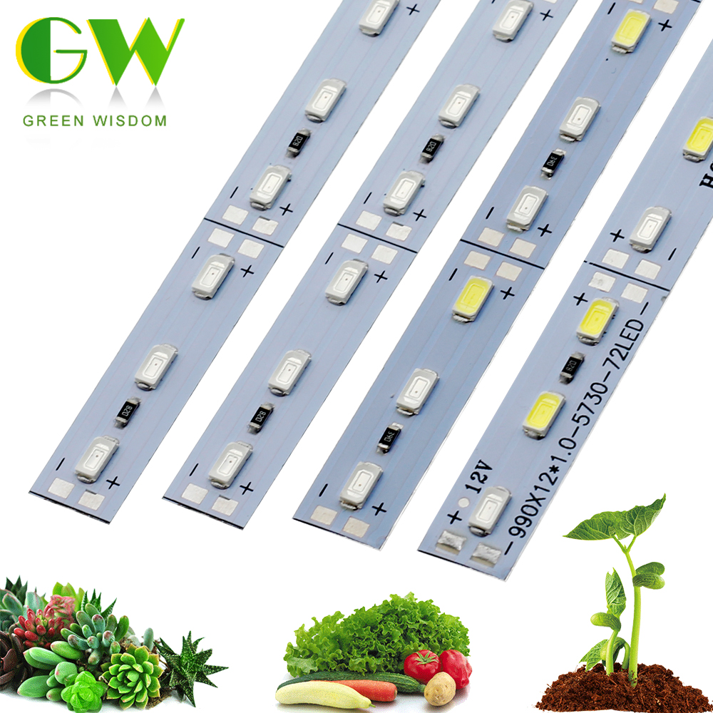 12V LED Grow Light 5730 Chip Phyto Lamp For Seedlings Indoor Plant Growing Lights For Hydroponics Greenhouse Grow Tent 10pcs/lot