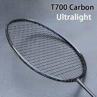 전문 t700 전체 탄소 섬유 배드민턴 라켓 최대 32lbs 초경량 라켓 스포츠 라켓 가방 포스 padel