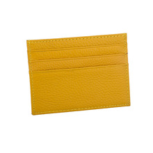 First Layer Cowhide Men's And Women's Ultra-thin Leather Card Bag Coin Purse Credit Card Bag Leather Bag Card Holder Card Set banjini bathroom bag bagping cotton card card card card cotton