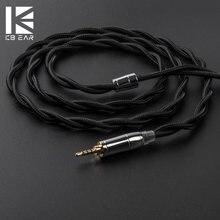 Kbear 2 núcleo upocc único cabo de cobre cristal 2.5/3.5/4.4mm fone de ouvido cabo para zs10/zsn pro zsx v90 c12 blon BL-03 BL-05