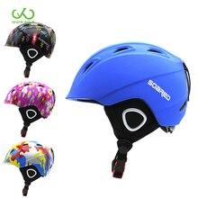 Детский лыжный шлем, шлем для сноуборда, зимний ветрозащитный флисовый скейтборд, Балансирующий велосипед/Автомобильный спортивный защитный шлем