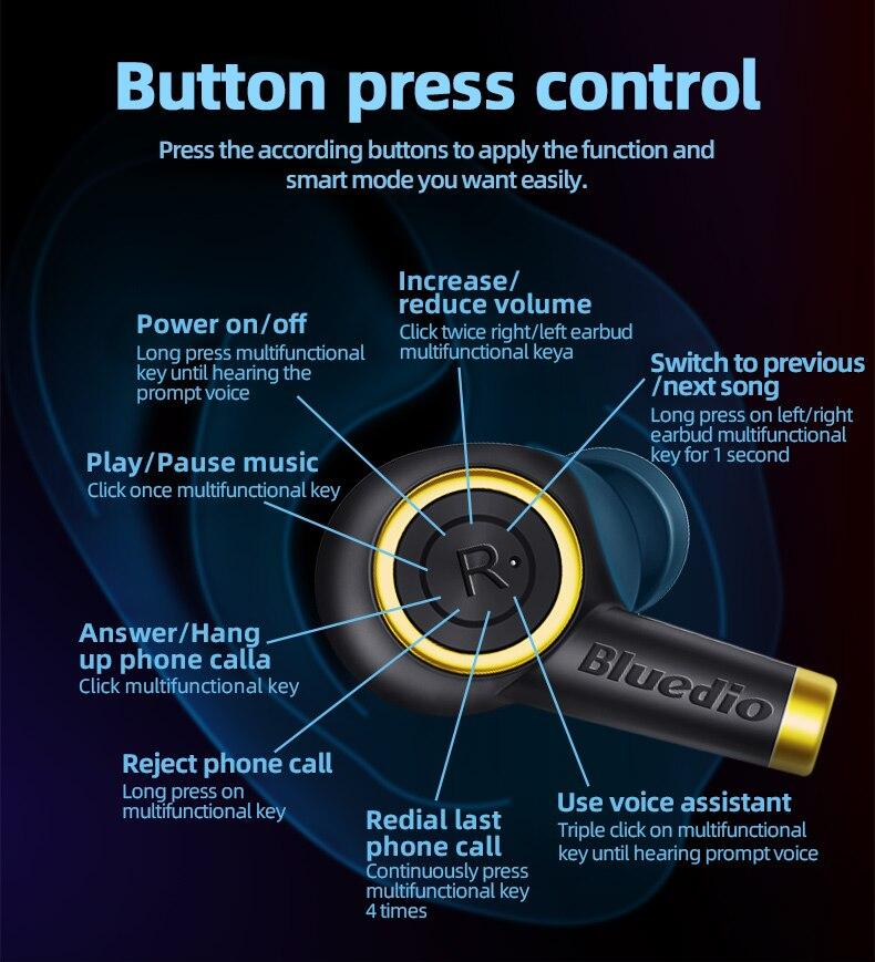 Ecouteur bluedio earbuds Bluetooth (Particle) prix maroc