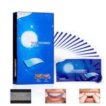 28 шт/14 пар усовершенствованные отбеливание зубов полоски удаление пятен для гигиены полости рта двойная эластичная Стоматологическая отбеливающая полоса