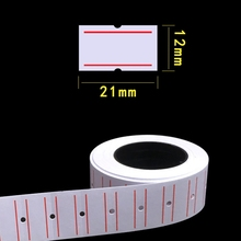 0 Rolls Self Adhesive Price Labels Paper Tag Sticker Single Row for Price Gun Labeller Grocery Office Supplies 21mmx12mm