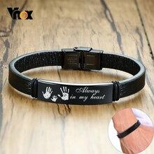 Vnox Personalized Men Bracelets 12mm Stainless Steel ID Bar