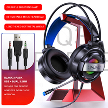 Headset Over-ear Wired Game Earphones Gaming Headphones Deep Bass Stereo Headset With Microphone For PC Laptop Gamer cheap centechia Hybrid technology CN(Origin) 108dB None 20mW 1 67m For Internet Bar for Video Game Common Headphone Line Type