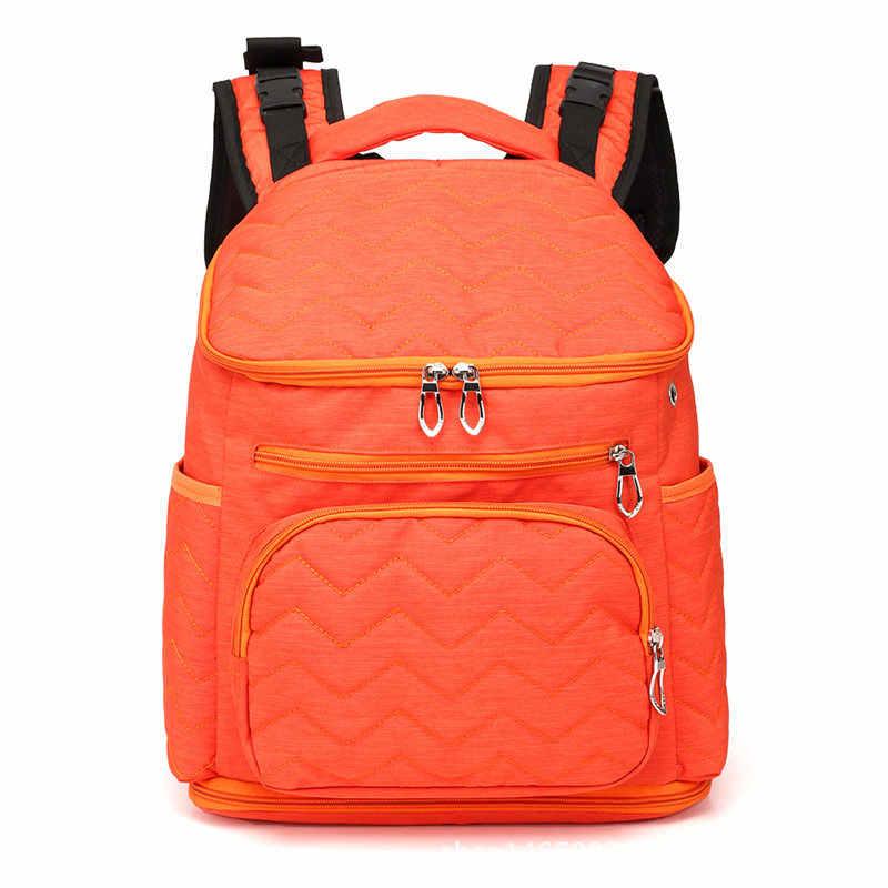 กระเป๋าผ้าอ้อมกระเป๋าผ้าอ้อมกระเป๋าแฟชั่น Mummy Maternity กระเป๋าผ้าอ้อมเด็กกระเป๋าเป้สะพายหลังผ้าอ้อมพยาบาลกระเป๋าสำหรับรถเข็นเด็กทารก