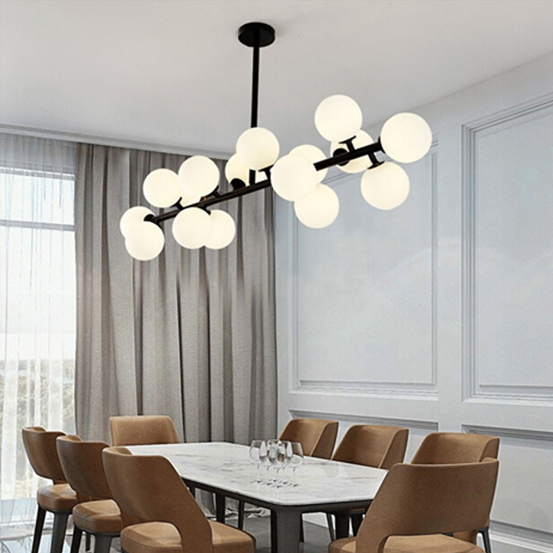 Black/gold Magic Bean Glass Pendant Lights Retro Vintage Loft Industrial Pendant Lamp Muti Glass Pendant Lighting Lamparas
