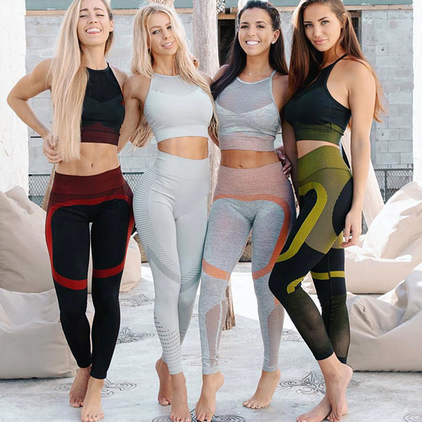 Seamless Sportswear Women 2019 Yoga Set Sports Fitness Gym Clothing Workout Clothes Sport Bras Push up Leggings Pant Tracksuit