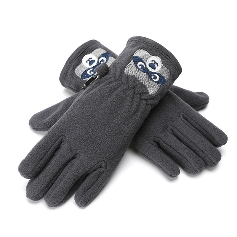 Kids Gloves Winter Cartoon Bear Ski Glove Double-layer Heated Gloves Anti-slip Windproof Thermal Snow Glove For Boys Girls 1PC*