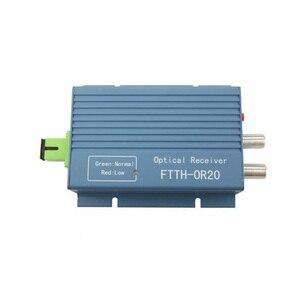 Image 2 - CATV מקלט FTTH AGC מיקרו SC APC סימפלקס מחבר עם 2 יציאת פלט עבור PON FTTH OR20 CATV סיבים אופטי מקלט