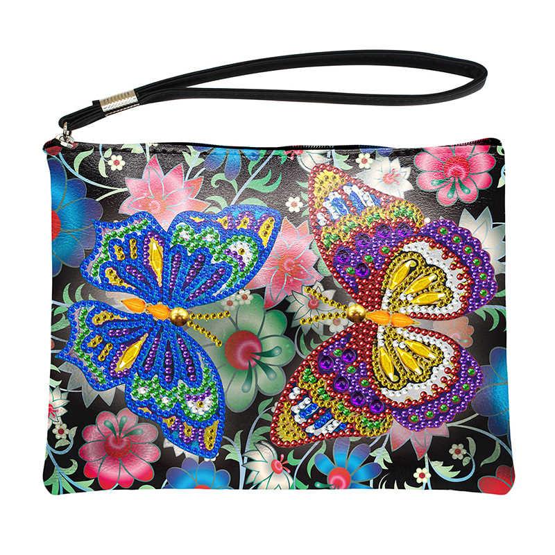 DIY 5D Diamond Painting Crossbody Bag Wallet Special Shaped Clutch Bag Purse New