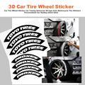 Автомобильные шины, наклейка для колес, Универсальный 3D логотип, автомобильная мотоциклетная наклейка для колес, персонализированный авто...