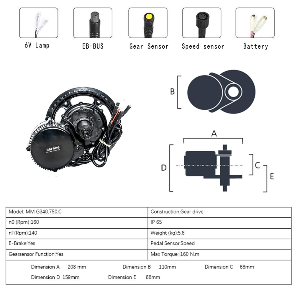 Bafang 36V25 0 w/350 W/500 W BBS01/BBS02 Motor Conversion Kit Fahrrad Zentrale Motor