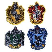 Четыре колледжа Хогвартс/Рейвенкло/Гриффиндор/хаффлпуф/Слизерин Косплей волшебный халат паста школа значок вышивка патч