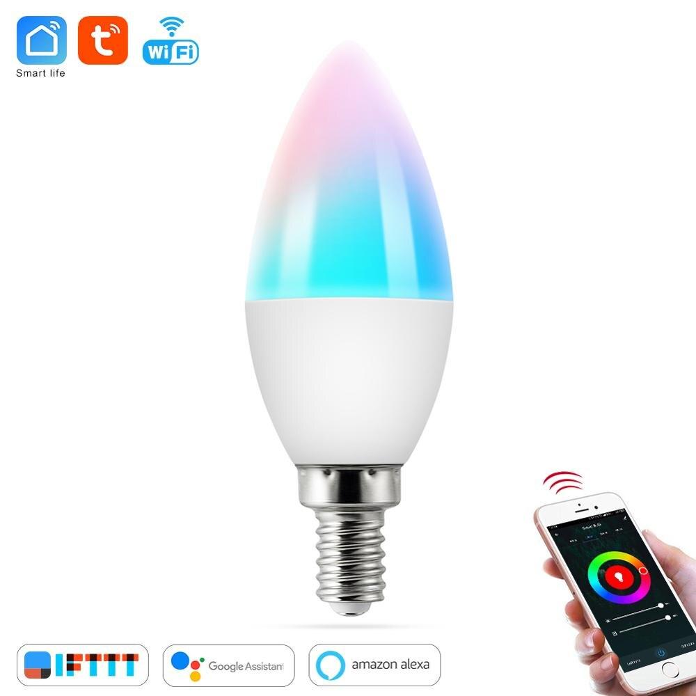55W V-TAC 7W Small Edi Energy Saving Candle LED Bulb with Samsung LED E14 SES