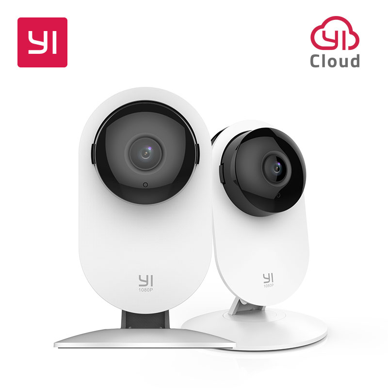 YI 1080p Home Camera 2pc Indoor IP Security Surveillance System With Night Vision For Home/Office/Baby/Nanny/Pet Monitor White
