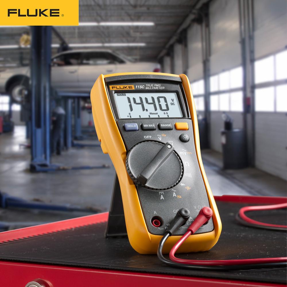 Tools : Fluke 115 115C True RMS Multimeter Tester Digital  Multimeter profession Portable Digital Tester