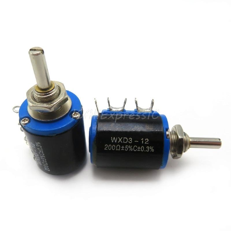 3PCS WXD3-12-1W 100 220 470 K 2K2 1 3K3 4K7 47 33 22 10K K K K Ohm 100R 220R 470R 2.2K 3.3K 4.7K WXD3-12 1W Wirewound Potenciômetro