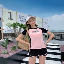 2020 nowy strój kąpielowy damski w stylu koreańskim sportowy strój kąpielowy damski konserwatywny Split mały biust zbierający brzuch pokrywający odchudzanie tanie tanio Pasuje prawda na wymiar weź swój normalny rozmiar