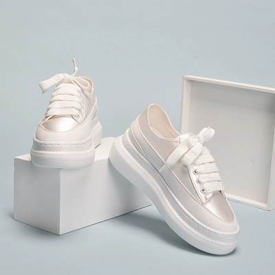 White Shoes Spring Thick-Bottom Female Wild-Students New Small Increased-Board