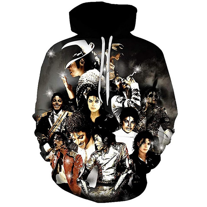 2020 New Fashion Mens Hoodie 3D All Over Printed King of Pop Michael Jackson hoodies Harajuku Casual streetwear sudadera hombre