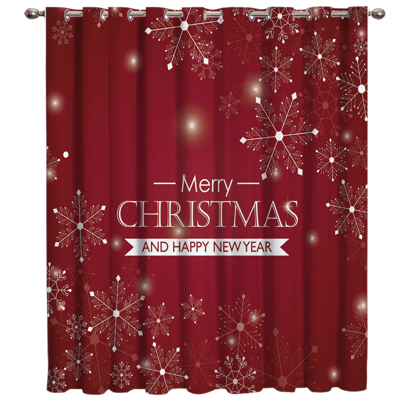 Merry Christams And Happy New Year Window Treatments Curtains Valance Living Room Decor Kitchen Print Kids Window Treatment
