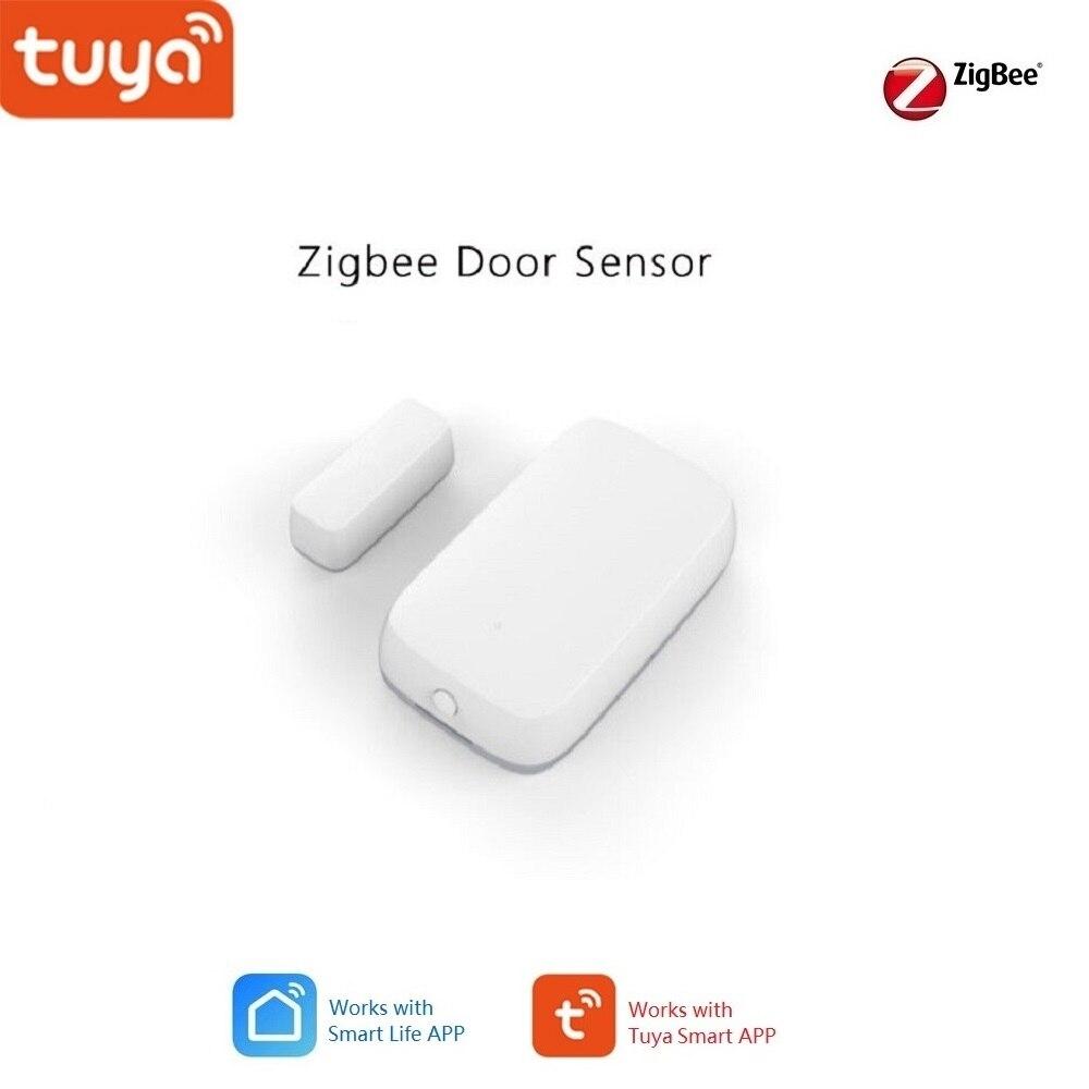Tuya Smart Home Zigbee Gateway Hub Door Sensor ,Security Alarm Kits Works Alexa,Google