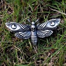 1 шт. dead head moth брошь