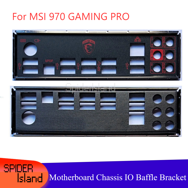 I/O Baffle Shield Back Plate For 970 GAMING PRO Motherboard Baffle Rear Panel Chassis Motherboard IO Bracket