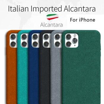 ZUOEKAI 100% Original Case For IPHONE 11PRO 11 XS MAX XR X 8PLUS 8 7 Alcantara Cover Leather Premium Full Protect Cover 5 color