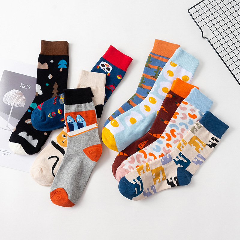 SP&CITY Winter New Original Men Cotton Happy Socks Casual Breathable Couples Funny Socks Absorb Sweat Sox Keep Warm Trendy